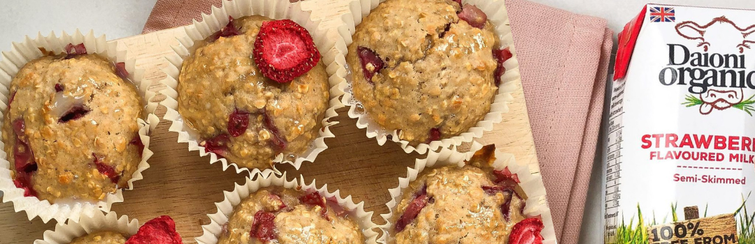 Daioni Organic Strawberry and Oat Breakfast Muffins